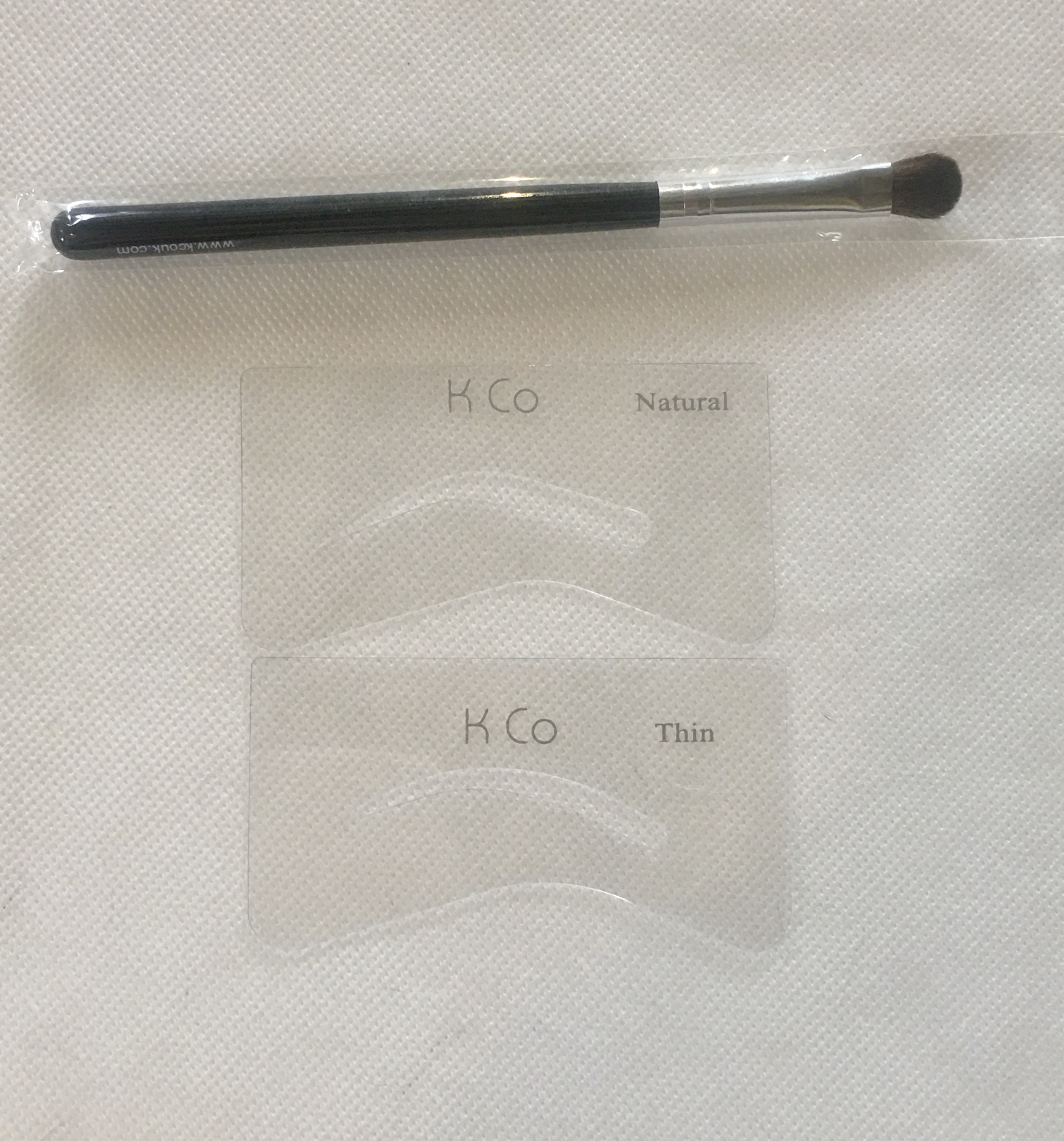 Kco Eye Brow Stencils Set and Eye Shadow Brush